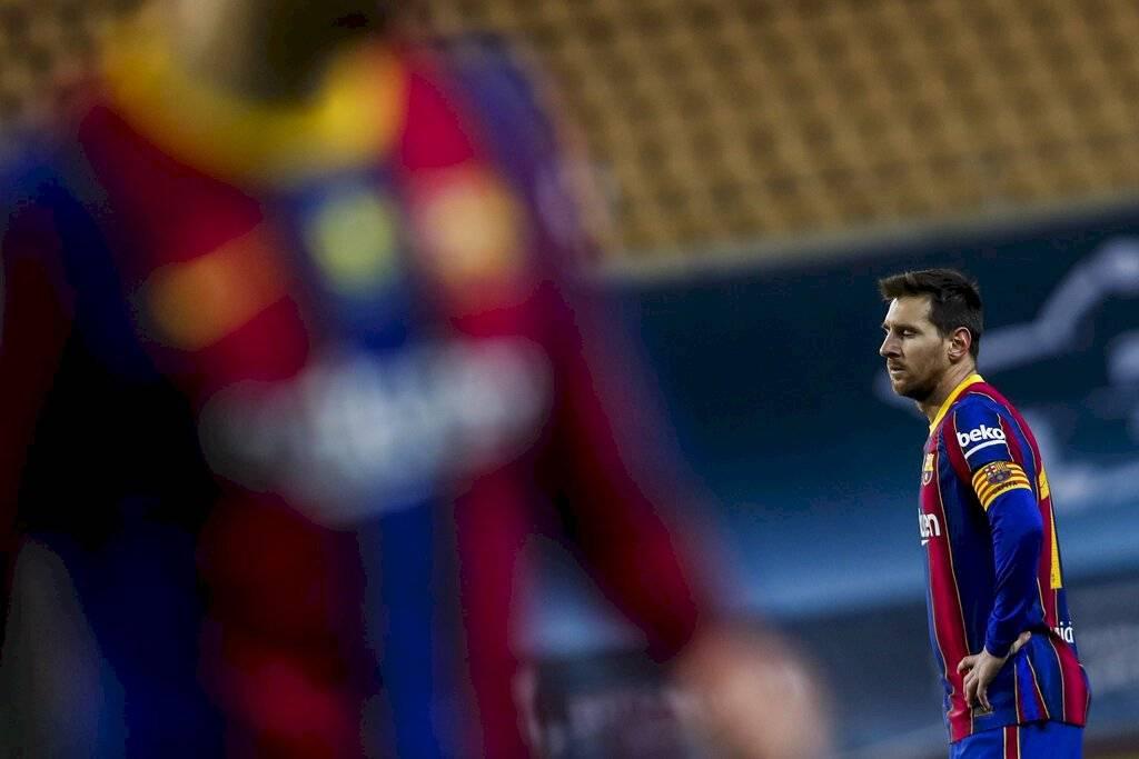 Leo Messi, expulsado en los últimos compases de la prórroga de la final de la Supercopa de España