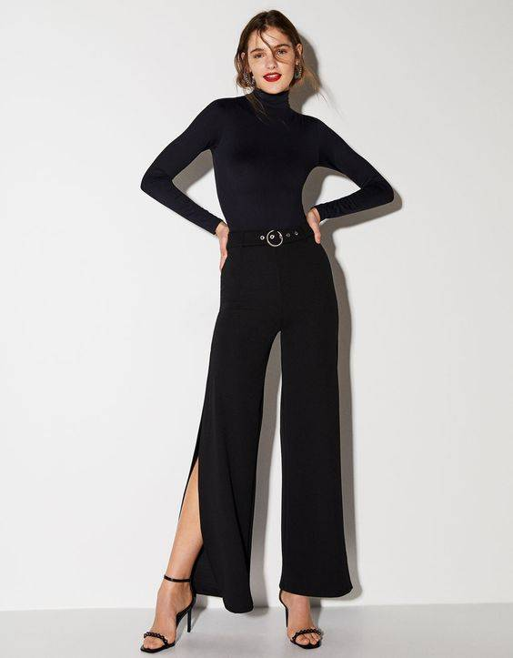 pantalones con aberturas laterales