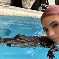 Lele Pons es acusada de maltrato animal al posar con cocodrilo amarrado