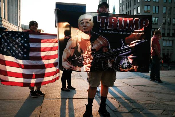 Partidarios de Donald Trump.
