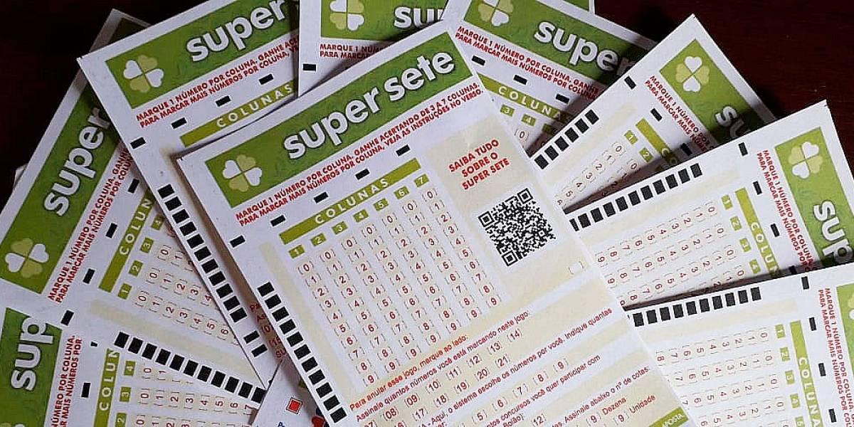 Super Sete: veja os números sorteados nesta sexta-feira