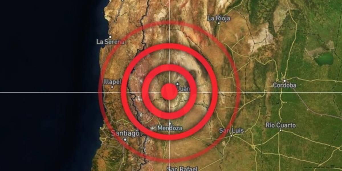 Sismo de magnitud 6.4 sacude frontera entre Argentina y Chile