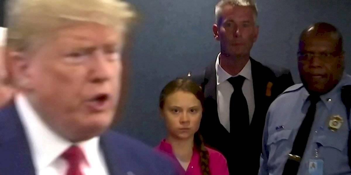 """Greta Thunberg dedica irónico mensaje de despedida a Donald Trump: """"Parece un anciano muy feliz"""""""