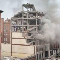 VIDEOS: Fuerte explosión destroza un edificio en Madrid, España
