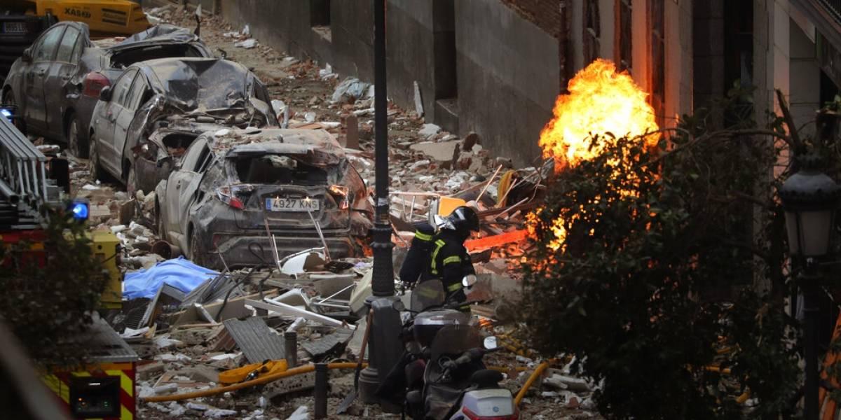 Confirman tres muertos por explosión en el centro de Madrid