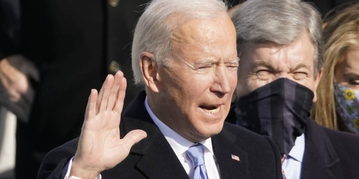 Joe Biden clama por la unión del país en su discurso inaugural