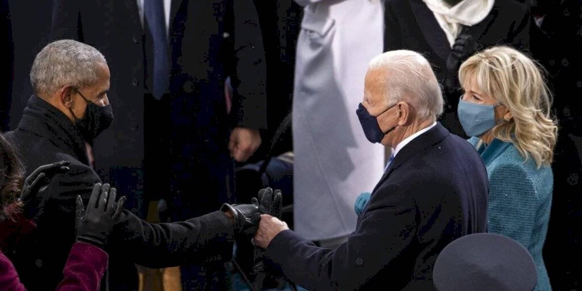 Así lucieron Barack Obama, George Bush y Bill Clinton en inauguración de Biden