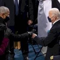 Así lucieron Barack Obama, George Bush y Bill Clinton en la posesión de Joe Biden