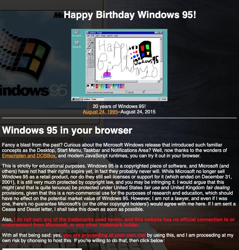 Windows 95 retro
