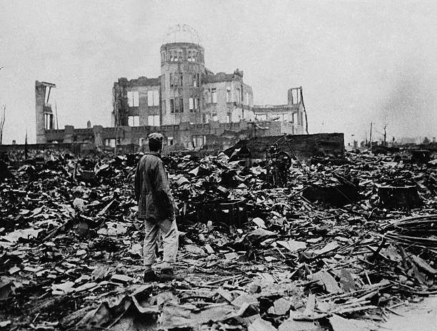 Así quedó Hiroshima tras el lanzamiento de la bomba atómica en 1945.