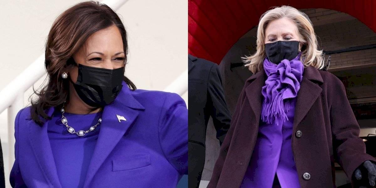 El morado invadió la toma de protesta de Joe Biden ¿Por qué las mujeres usaron este color?
