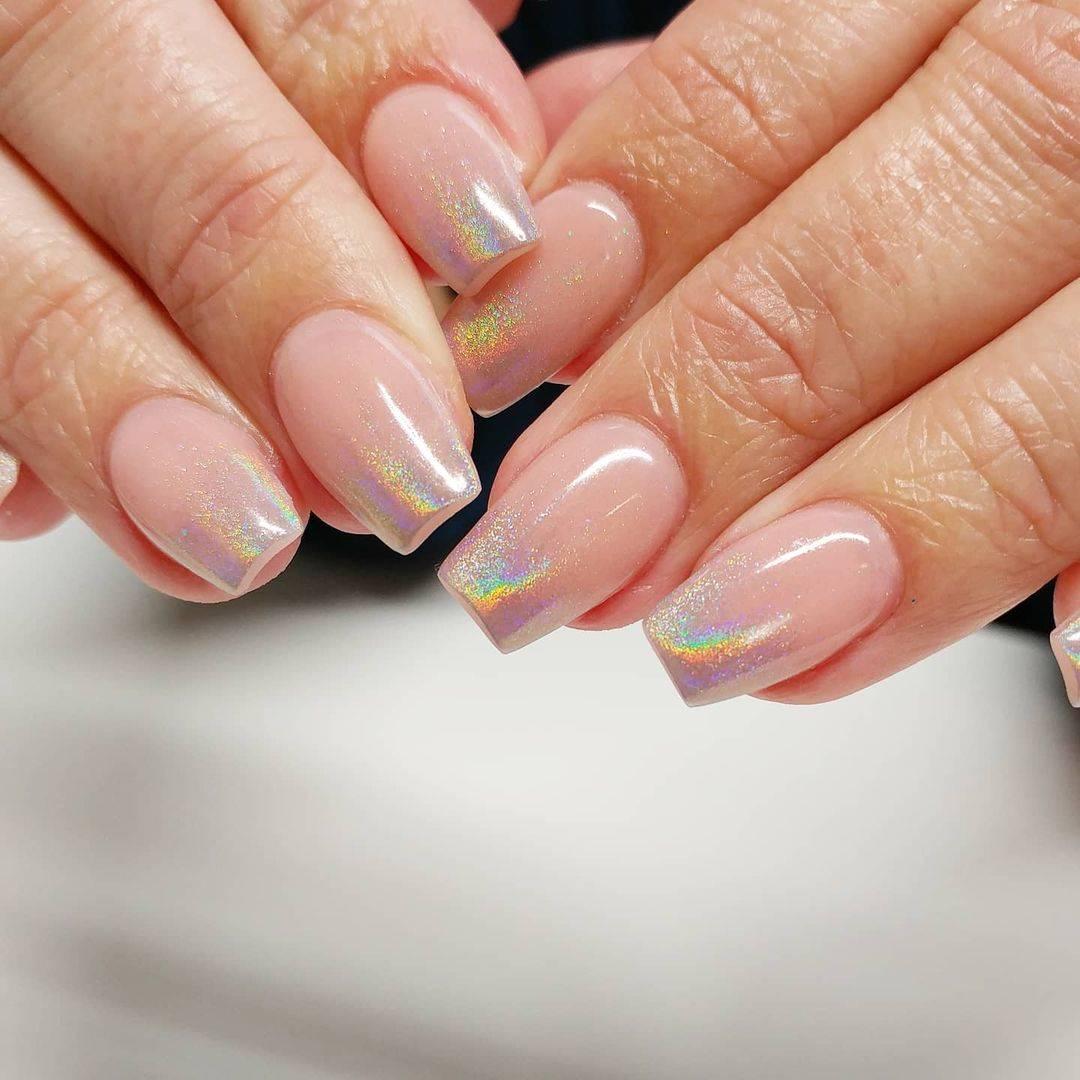 diseños de uñas holográficas