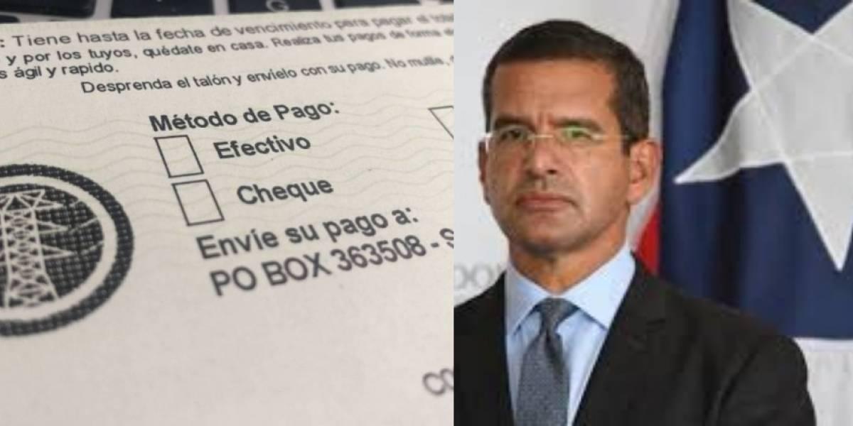 """Pierluisi dice no debe aumentar factura de la luz por """"falta de eficiencia"""" de AEE o LUMA"""