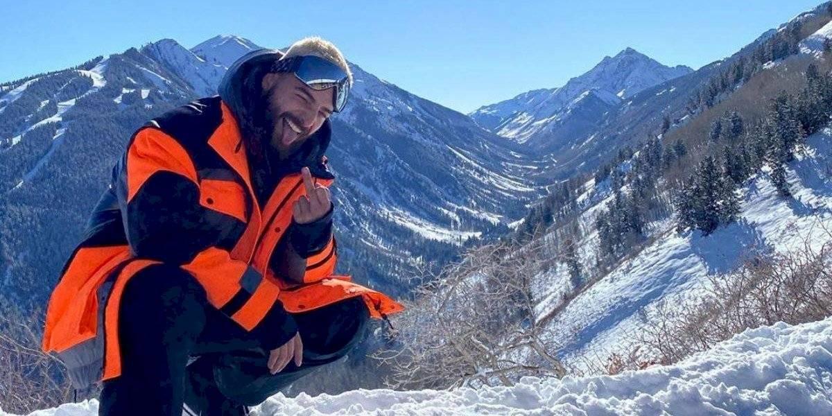 Maluma coquetea con la idea de ser papá después de unas increíbles vacaciones en la nieve