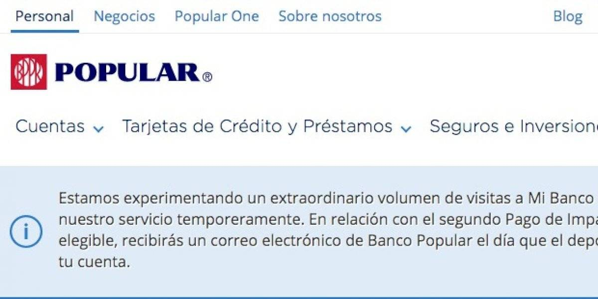 Banco Popular promete enviar correo electrónico cuando te depositen los $600