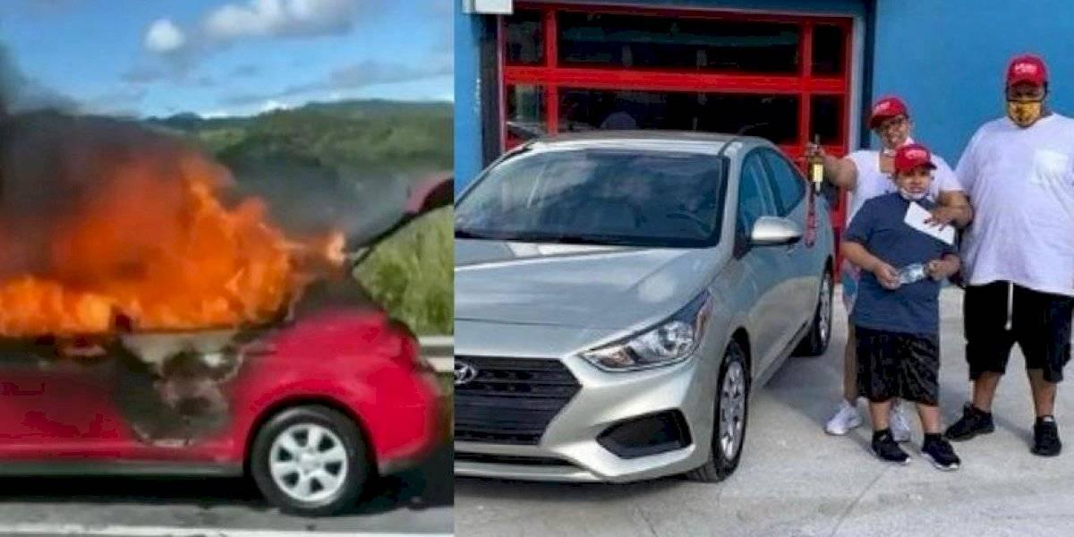 Pina ve auto incendiado en Expreso y une esfuerzos para comprar otro a familia afectada