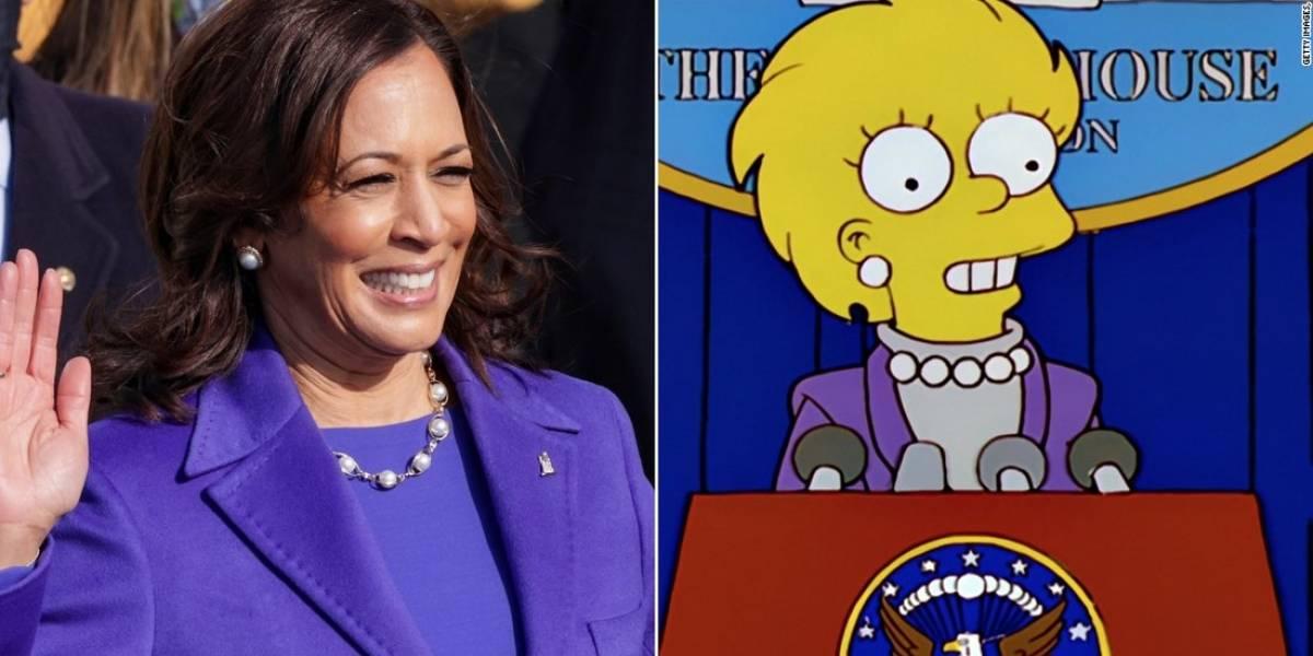 ¿Los Simpson predijeron la toma de posesión de Kamala Harris?