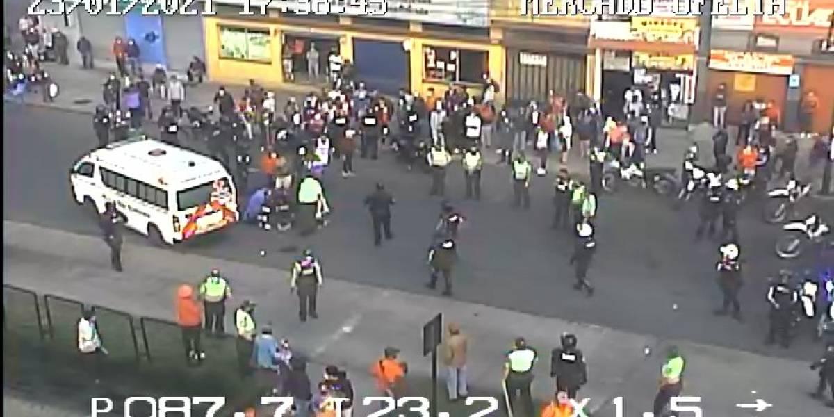 Se registran enfrentamientos entre comerciantes en mercado de La Ofelia