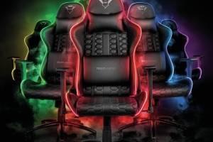 4 cadeiras gamers com leds interativos para quem fica horas jogando videogame