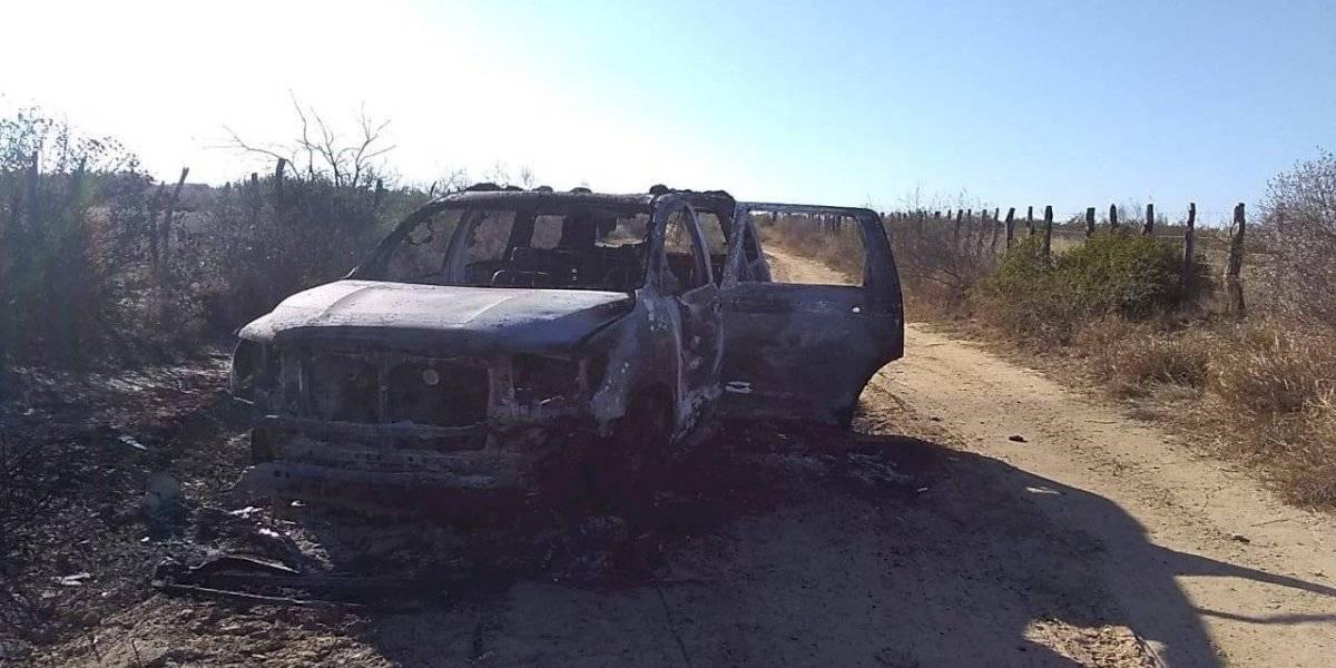 Hallan 19 cuerpos calcinados al interior de una camioneta en Tamaulipas