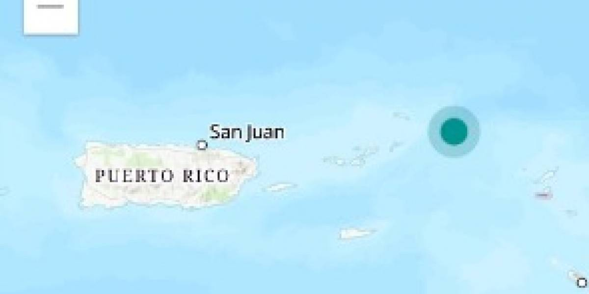 Temblor en las Islas Vírgenes se siente en Puerto Rico
