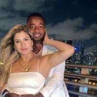 La presentadora Yuribeth Cornejo y el futbolista Jefferson Orejuela, demuestran su amor