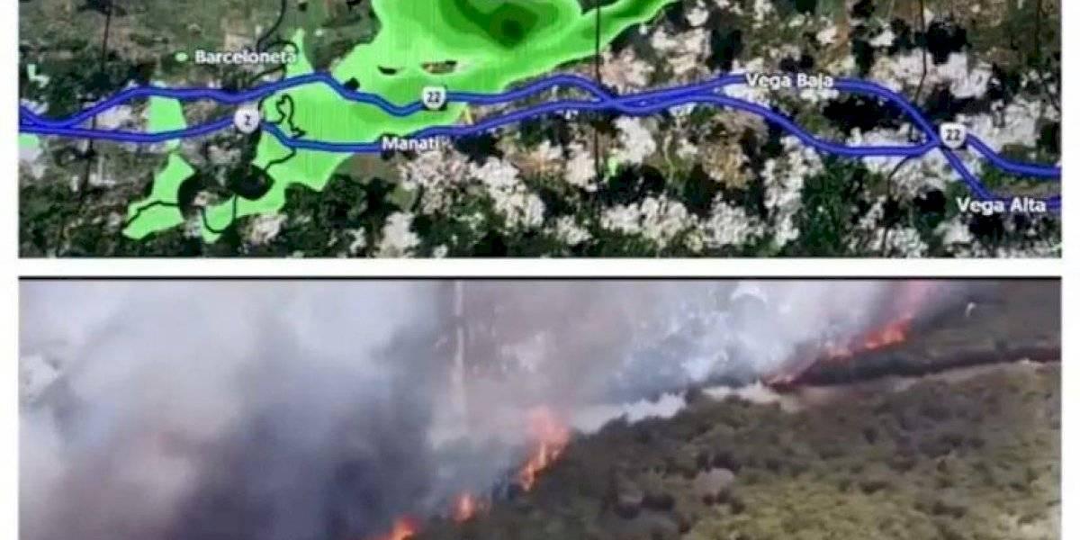 Deborah Martorell dice magnitud de fuego en Vega Baja se refleja en radar del tiempo