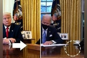 Biden retira botão que Trump mantinha para pedir Coca-Cola aos mordomos da Casa Branca