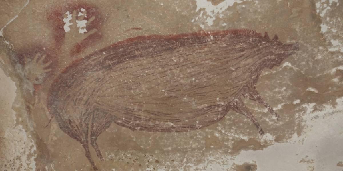 Esta pintura de un cerdo podría ser el arte rupestre más antiguo del mundo