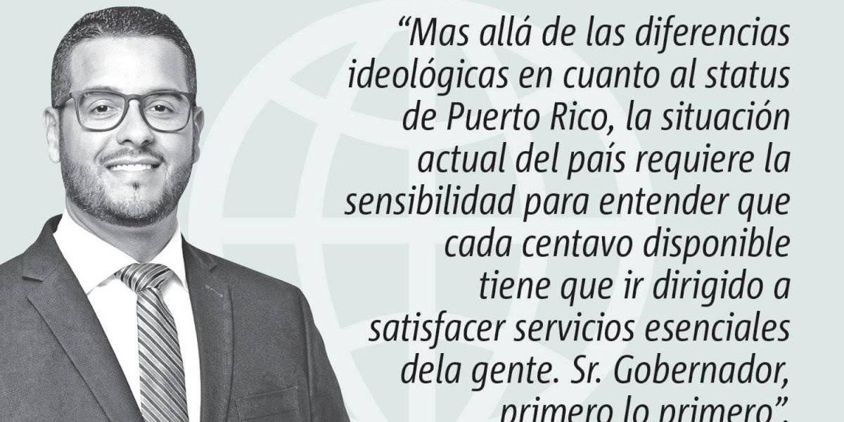 Opinión del representante Jesús Manuel Ortiz: Primero lo primero