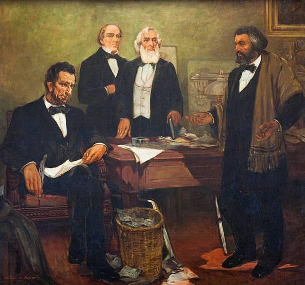 Lincoln y Douglass. El Mes de la Historia Negra se celebra en febrero por sus nacimientos.
