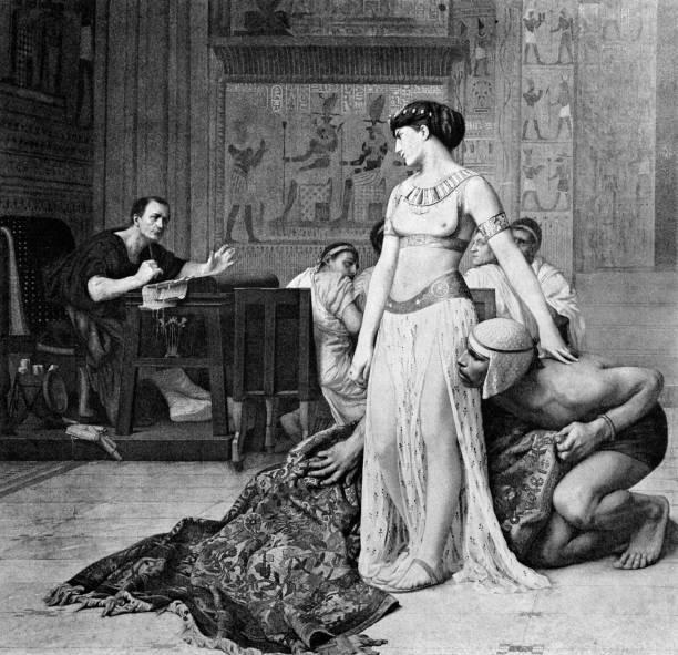 Cleopatra y Julio César.
