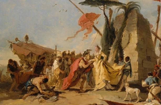 Cleopatra y Marco Antonio.