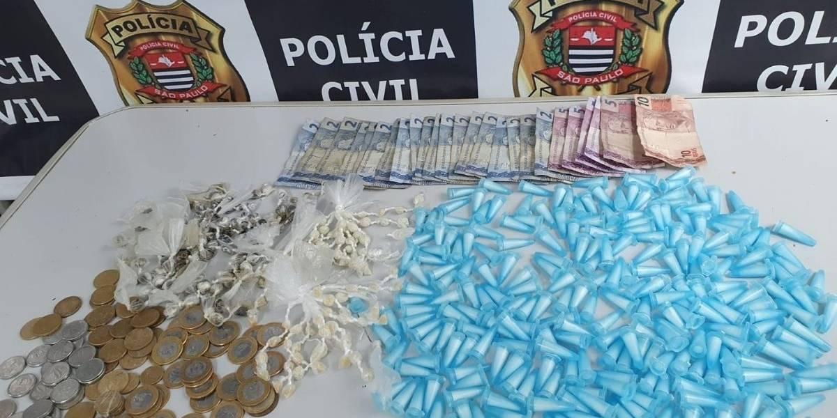 Homem é detido com mais de 450 porções de drogas no litoral de São Paulo