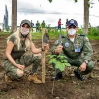 Prefectura del Guayas reforestará bosque en la Base Taura con 700 árboles