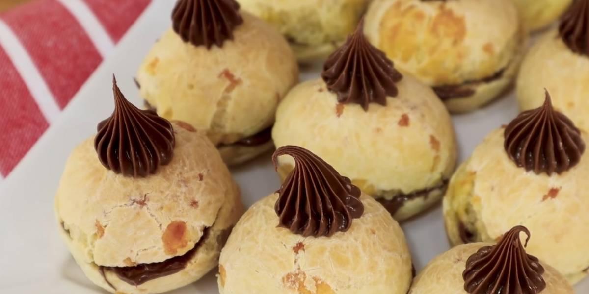 Receita prática de pão de queijo com Nutella; fica uma delícia