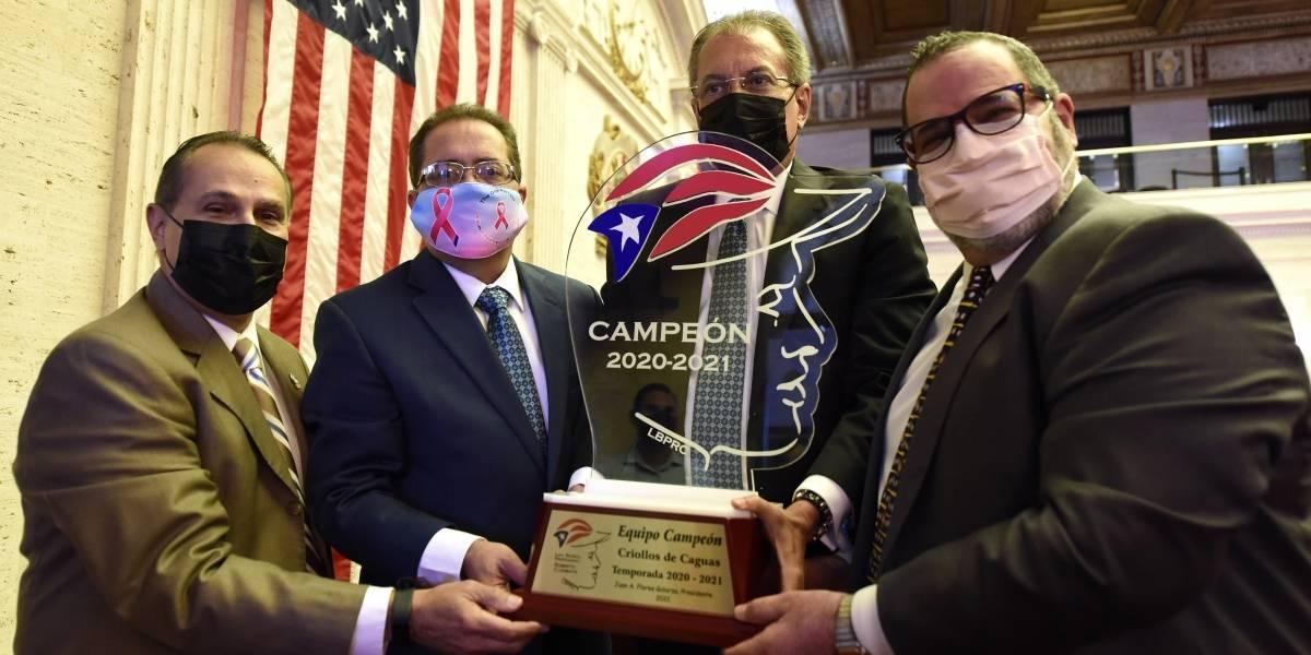 Reconocen en el Senado a los Criollos de Caguas tras coronarse campeones del torneo invernal
