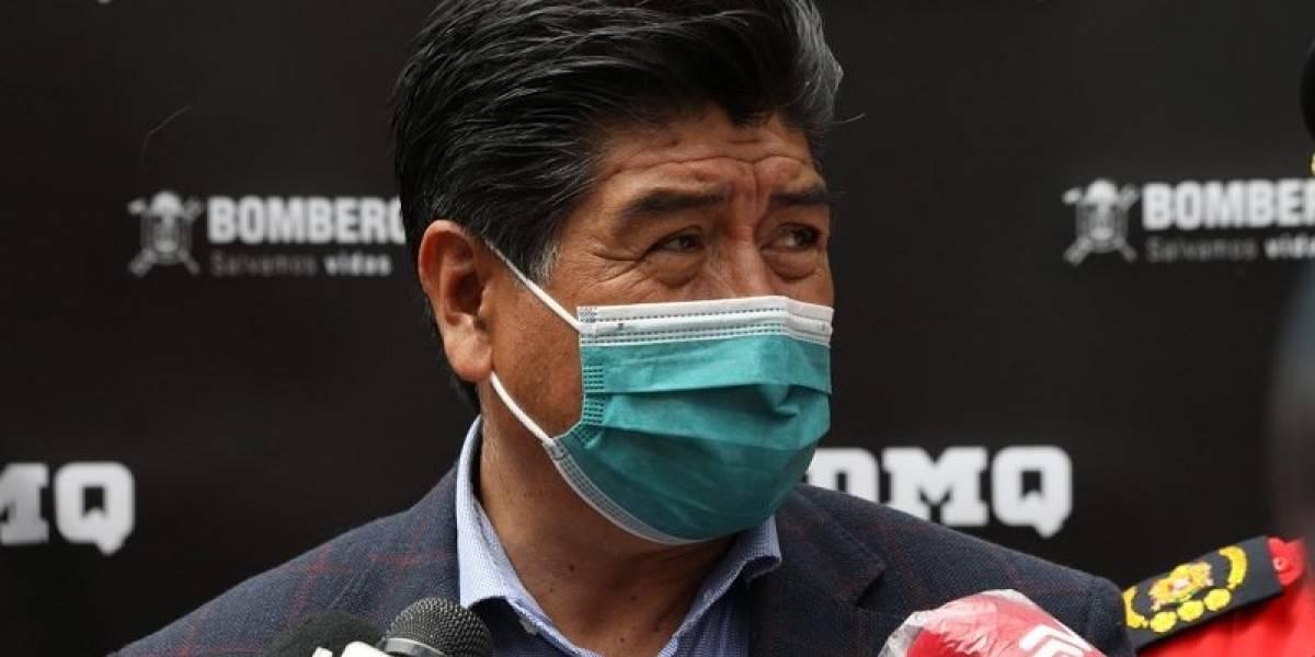 """Jorge Yunda: """"Hoy tengo la reunión para la adquisición de vacunas para Quito"""""""