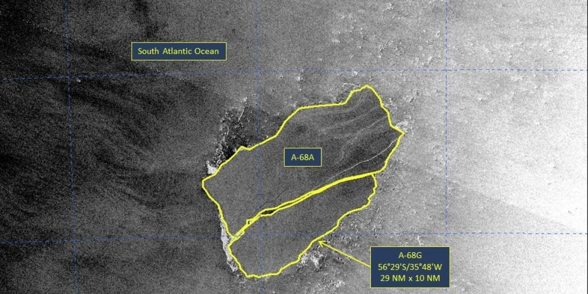 Estados Unidos.- El iceberg gigante A-68A se parte casi por la mitad, según el Centro Nacional de Hielo de EE.UU.