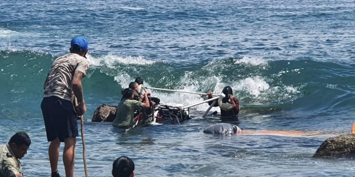 Aventura en parapente terminó en tragedia en playa de Chile