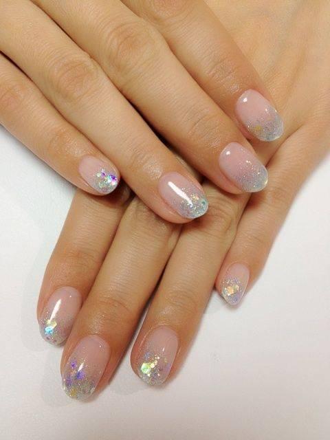 diseños de uñas efecto cristal roto
