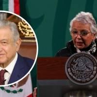 AMLO, contento, optimista y mejora rápidamente: Sánchez Cordero