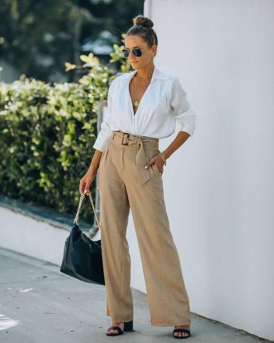 combinar pantalones corte alto