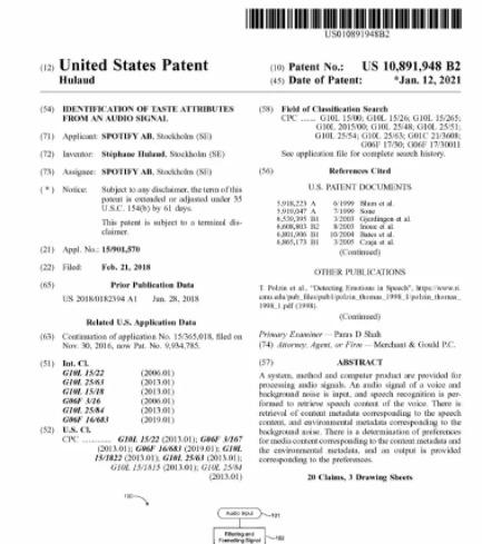 Patente de Spotify