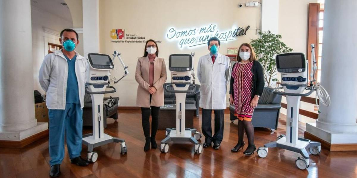 #SumarJuntos de Banco Pichincha entregó 24 respiradores de última tecnología en hospitales de ocho ciudades del país