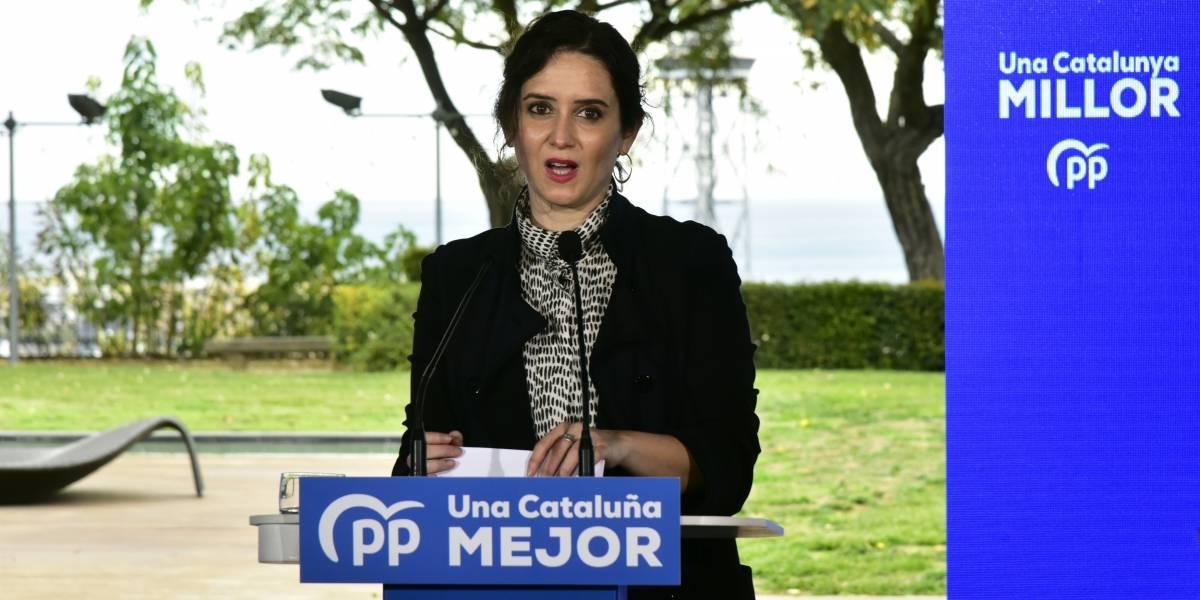 """España.- La presidenta de la Comunidad de Madrid equipara el socialismo al independentismo: """"Pretenden la sumisión"""""""
