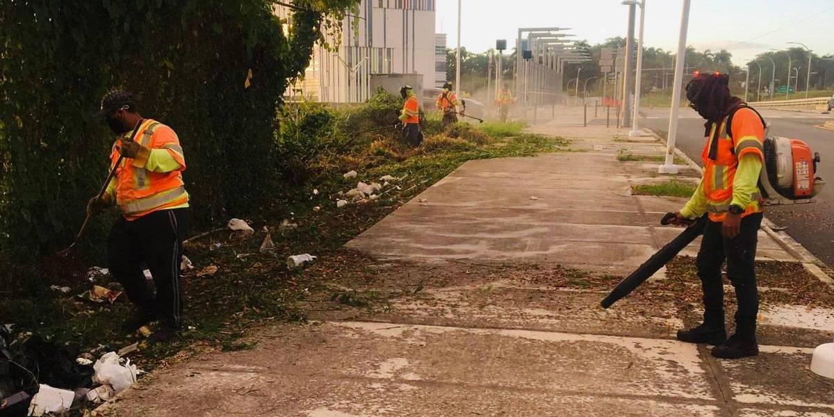 DTOP en operativo de limpieza en las vías estatales