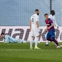 Real Madrid se desinfla en La Liga y cae sorpresivamente frente al Levante