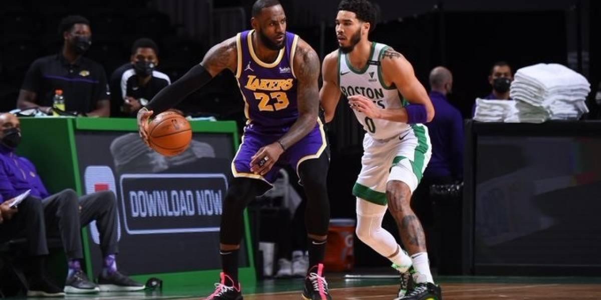 Baloncesto/NBA.- Los Lakers se llevan el clásico de la NBA con un final dramático ante Boston Celtics