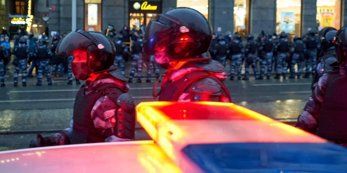 Rusia.- Más de 1.500 detenidos en las manifestaciones para exigir la liberación del opositor ruso Alexei Navalni